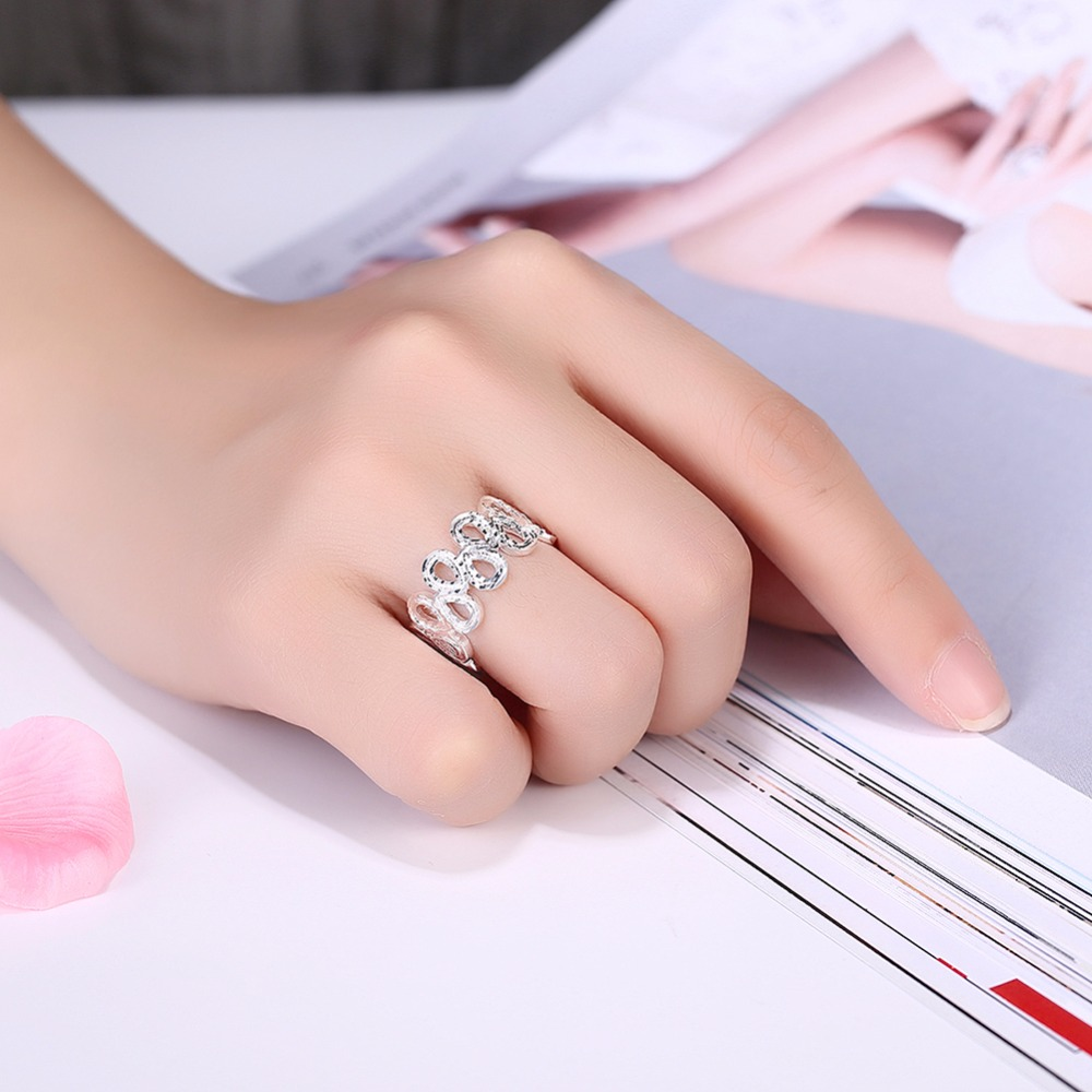 GNIMEGIL New Water Drop Ring Classic Accessories Hollow Style ...