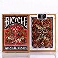 1 cubierta de La Bicicleta de Oro Dragón Volver Naipes Oro Edición Poker Magia Cubierta magicTricks 83095