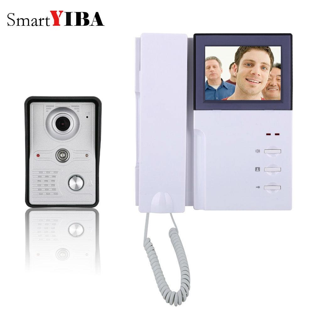 SmartYIBA 4 Inch Video Door Phone Doorbell Intercom Kit 1-camera 1-monitor Night Vision IR cameraSmartYIBA 4 Inch Video Door Phone Doorbell Intercom Kit 1-camera 1-monitor Night Vision IR camera