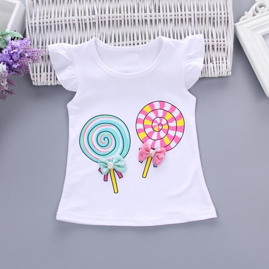 2Pcs Toddler Baby Girl Summer Clothes Flutter Sleeve Lolly Tops T Shirt+Floral Shorts Outfits Set