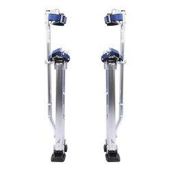 24 para 40 polegada Ajustável Profissional Escada de Alumínio Reboco Palafitas Drywall Palafitas Plaste Pintura Pintor Ferramenta Acessório Prata