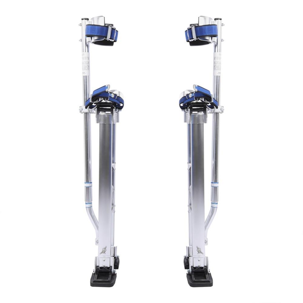 24 to 40 inch Adjustable Professional Aluminum Plastering Stilt Ladder Drywall Plaste Stilts Paint Painter Tool Accessory Silver
