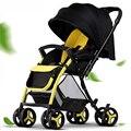 Carrinho de Bebê dobrável Quatro Rodas Carrinho de Bebê Pode Se Sentar Para Mentir Push Para Reverter Carrinho De Bebê De Luxo Alta Paisagem Sit 6 Cores