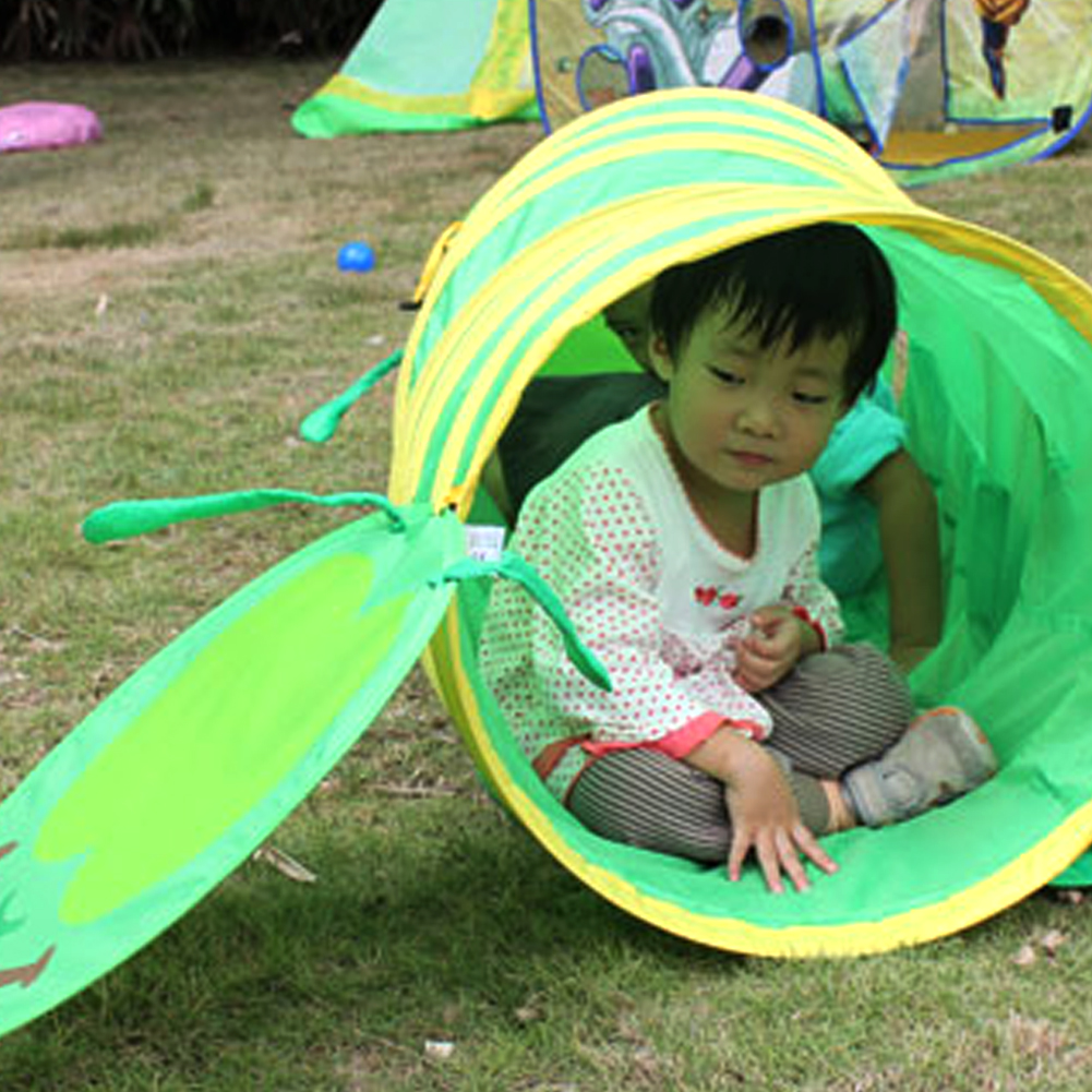 Foldable kids Toys Pop-up Play Tent Toy Lodge House Tunnel Indoor Outdoor Garden Playhouse Kids Tunnel Tent for Children Gift portable foldable pop up tunnel basketball tent