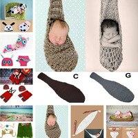 Nouveau-né Bébé Crochet Suspendus Cigogne Poche Cocoon Photographie Props  Tricoté Bébé Cigogne Nid 81c3d37ea62