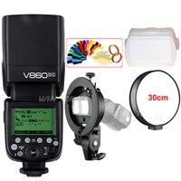 Godox Ving V860II V860II C E TTL HSS 1/8000 Li ion Battery Speedlite Flash Light +Bowens S Type Bracket for Canon DSLR Camera