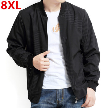 8XL 6XL Spring Autumn mens jackets and coats Casual Mens Jackets Plus Size 4XL jaqueta masculina Sportswear Bomber Jacket homme