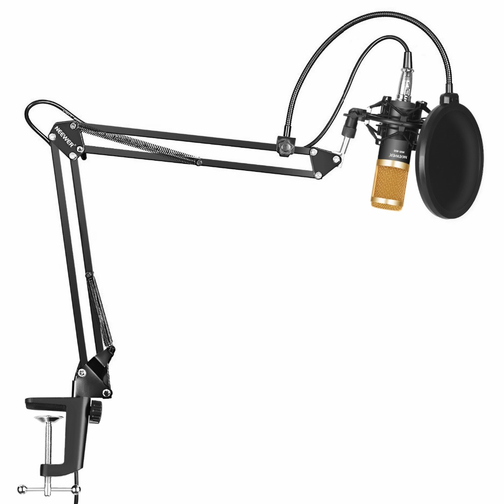 Neewer Professional Studio Broadcasting Recording Condenser Microphone&Microphone Arm Stand With Shock Mount And Mounting Clamp