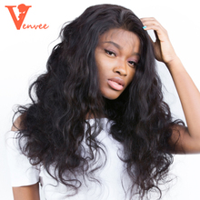 360 Lace Frontal Wig Pre Plucked With Baby Hair Brazilian Body Wave Lace Front Human Hair Wigs 180 & 150 Density Full End Venvee