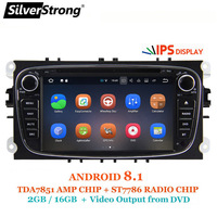 SilverStrong Android8.1 IPS panel 2GB RAM Car DVD For FORD Focus 2 Android Radio for Galaxy for Mondeo Optional TPMS HD DVR DAB+