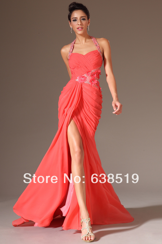 New Arrival Fashion Chiffon Applique Beads Mermaid Formal Evening Dresses|dress strawberry|dress with beadsbead watch |