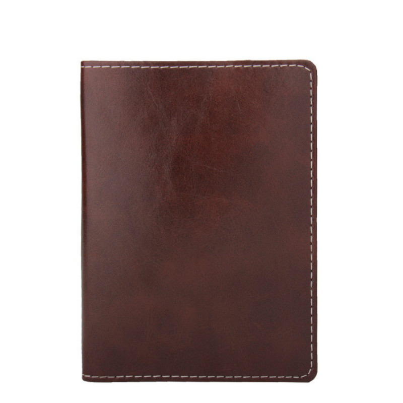 2018 Travel Solid Business Real Genuine Leather Women Men Passport Cover Unisex Credit Card Holder Wallet  Brown Blue