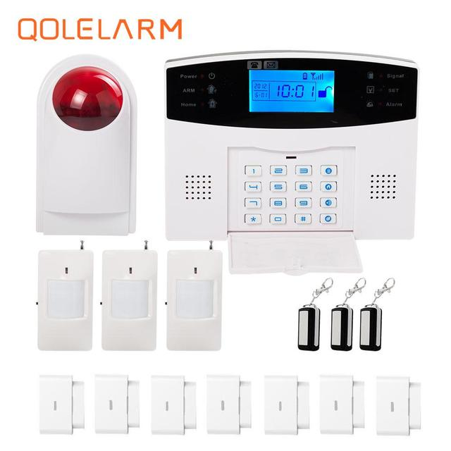 433MHz Wireless Russian/Portugue/Germany Voice SMS Call GSM Alarm ...