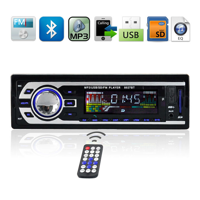 Wholesale Black Bluetooth Vintage Car Radio Mp3 From China: 2019 Car Electronics 12V/ 24V Autoradio Audio Player 1 DIN