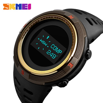 Männer Uhren Pedometer Kalorie Digitale Sport Uhr Männer Kompass Thermometer Handgelenk Uhr Outdoor uhren para hombre SKMEI 2018