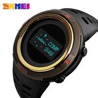 Men's Watches Pedometer Calorie Digital Sport Watch Men Compass Thermometer Wrist Watch Outdoor relojes para hombre SKMEI 2018