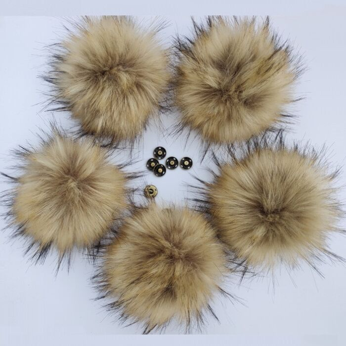 Big 15cm Fluffy Natural Artificial Polyester Pom Pom For Clothes Bag Multicolor Hairy Ball For Knitted Hat Beanies Accessories