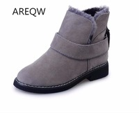 AREQW Fashion 2017 Winter Warm Female Snow Boots Europe And The United States Wind Rough With