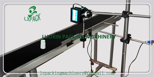 LX-PACK Lowest Factory Price cij inkjet printers mobile conveyor belts Automatic Paging Machine egg conveyor stand support