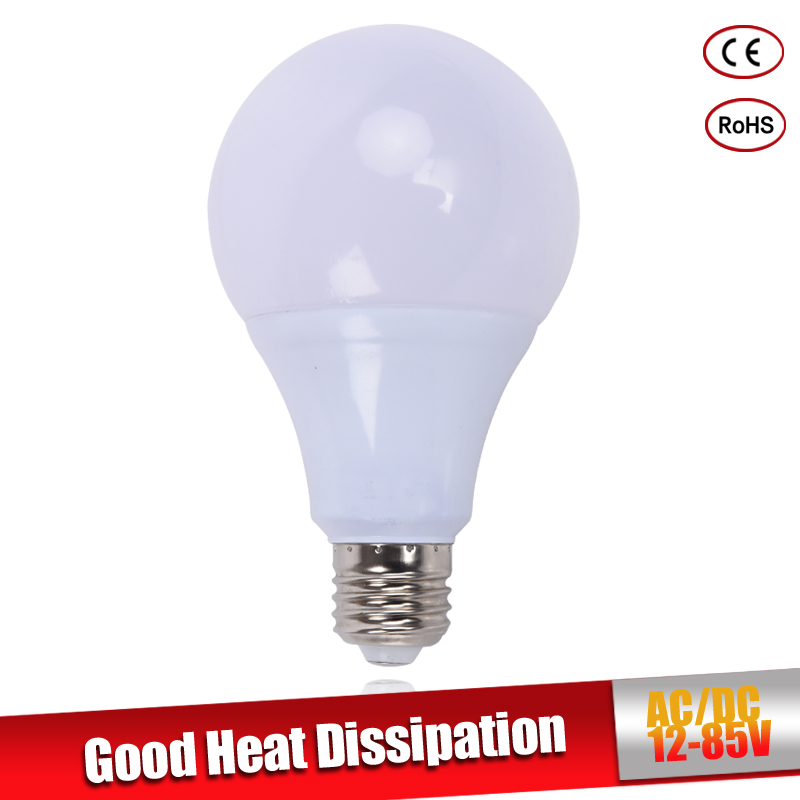 LED Bulb E27 3W 5W 7W 9W 12W 15W 18W AC&DC 12V 24V 36V 12-85V Home Lighting LED Lamp Cold Warm White SMD 2835 Indoor Lighting