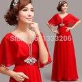 2017 Una Línea de Abalorios V-cuello Mangas Media China Red vestidos de Gasa Largo vestido de sirena de encaje Vestidos de Noche verde esmeralda