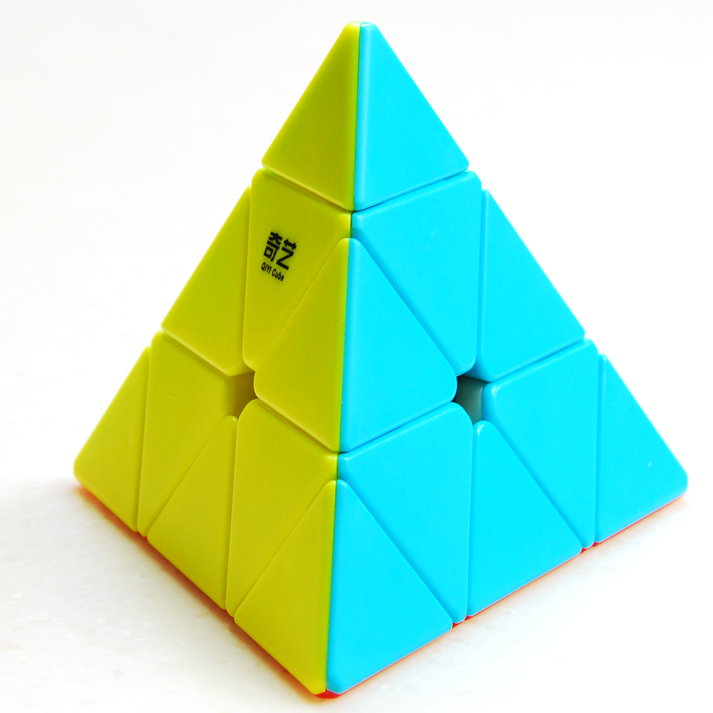 QiYi Pyraminx Triangle Professional Cube 3x3 Cube Speed Neo Cubo Magico Puzzle Cube Antistress For Children Early Education Toys