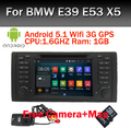 "Android 5.0.1 Quad Core GPS Навигации 7 ""Dvd-плеер автомобиля для BMW E39 5 Серии 97-07 Range Rover 02-05 с Bluetooth RDS Canbus"