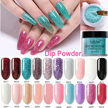 Azure Beauty Pink Color Dipping Powder Without Led Lamp Dip Nail Art Gradient Glitter Base Top Gel
