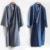 Batas de Dormir de Estilo japonés Kimono Hombres Gasa Floja Larga de Algodón ropa de Dormir Del Kimono Del Traje