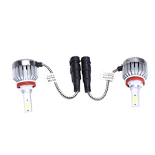 1 Pair 66W 6000lm H8 H9 H11 Cob Car Automotives Headlight Kit Bulb Led Fog 12V Supper White 6000K Head Lamp Light ME3L