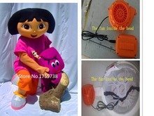 Dora The Explorer Adult Costume Dora Mascot Costume Role Playing Clothing Polyfoam Head fast Shipping
