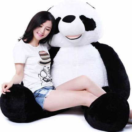 huge 180cm stuffed filling Giant Panda plush toy panda doll, hugging pillow ,sleeping pillow Christmas gift w0743 lovely giant panda about 70cm plush toy t shirt dress panda doll soft throw pillow christmas birthday gift x023