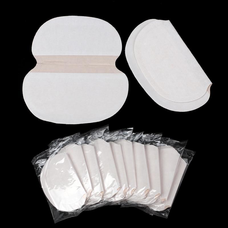 200Pcs Non-woven Fabrics Armpit Sweat Pads Disposable Underarm Anti Absorbing Perspiration Deodorant Summer Dress Unisex Shield