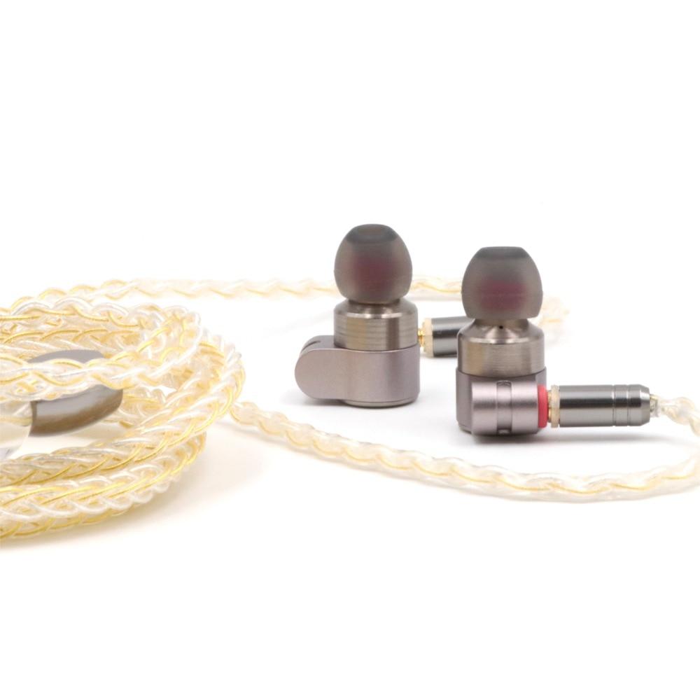 TinHIFI Tin Audio T3 beyoncé BA + pilote hybride dynamique dans l'oreille écouteur IEM moniteur avec plaqué or OFC SPC MMCX câble mise à niveau T2 - 4