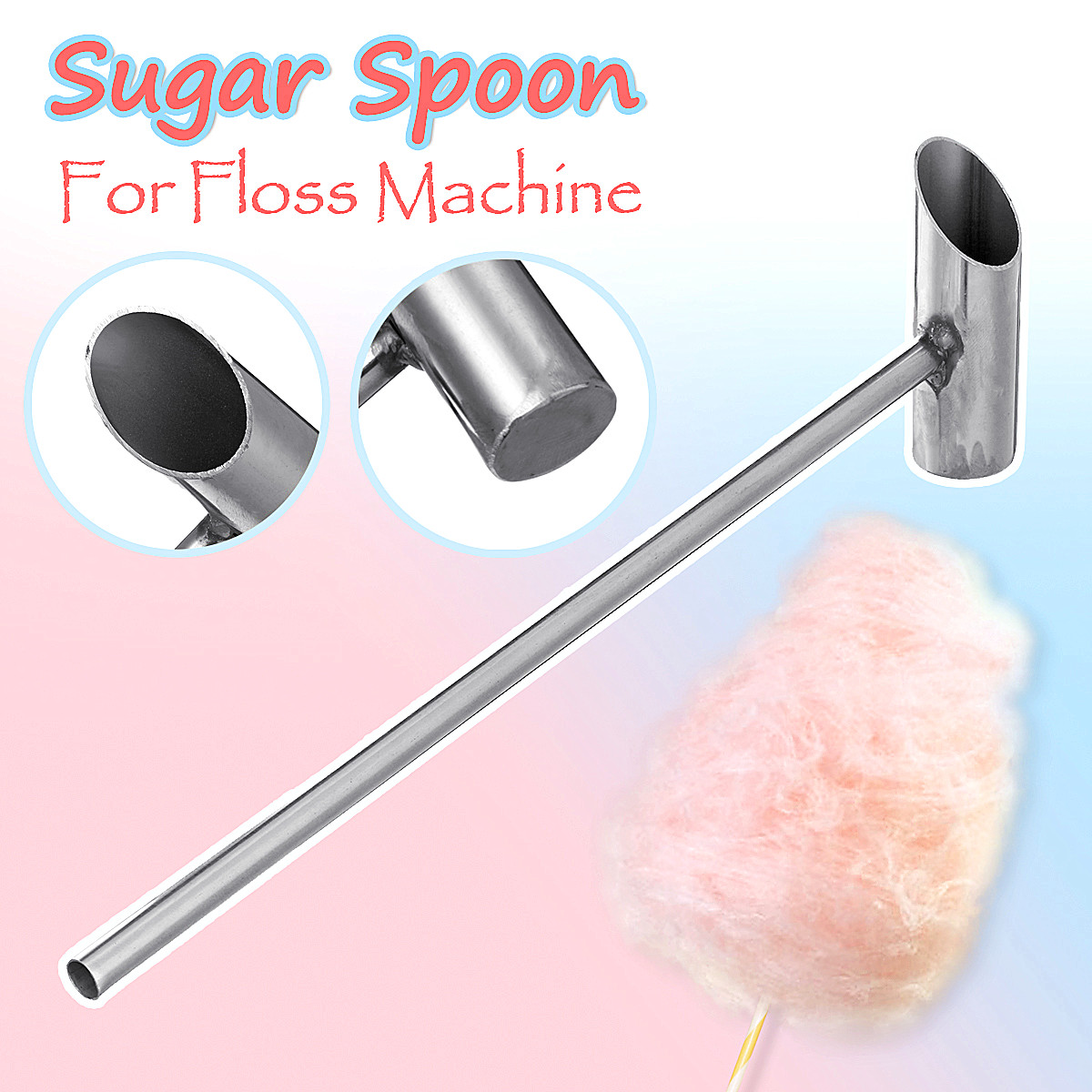 1pc Stainless Steel Sugar Spoon For Candy Floss Cotton Machine Cotton Candy Machine