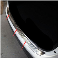 Protective Pad On The Rear Trunk Trim Lid Threshold Rear Door Sill Car Styling For Nissan QASHQAI 2016