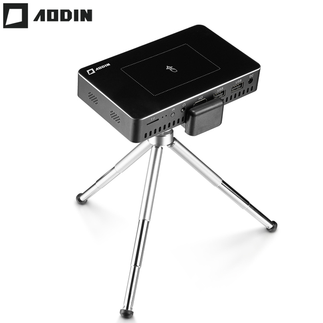 Big Sale AODIN M9 1+32G Pico mini Projector hd Smart Multi-touch DLP Portable Projectors LED Pocket Projector WIFI home theater data show