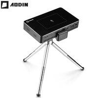 Aodin M9 1 + 32 г пико мини-проектор hd Smart Multi-touch DLP Портативный проекторы светодио дный карманный проектор WI-FI домашний кинотеатр данные показываю...