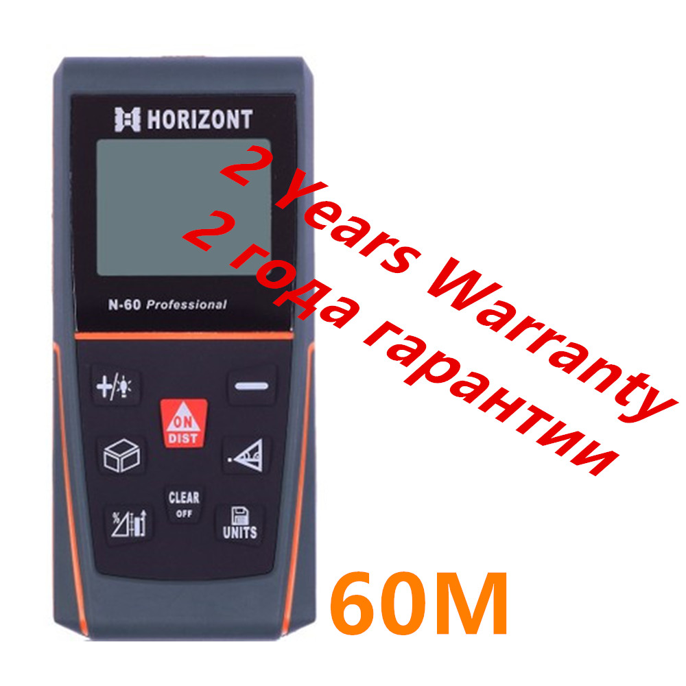 60m Rangefinder Handheld Digital Distance Meter Screen Outdoor Laser Distance Measurer Bubble Level Measuring Instrument
