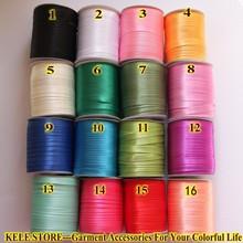 """Полиэфирная атласная косая лента, косая вязка, размер: 15 мм, 5/""""* 144yds/бобина, 130 м DIYgarment швейные изделия, различные цвета"""