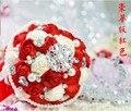 2017 ramos de novia bouquet de fleurs mariage gorgeous beaded crystal wedding bouquets Pink Rose wedding flowers bridal bouquets