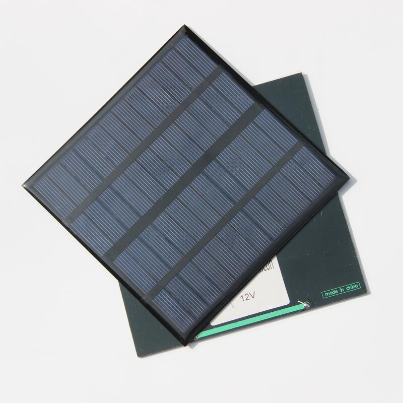3 W 12 V cellule solaire polycristallin panneau solaire énergie solaire système de batterie chargeur kits éducatifs époxy 10 pièces