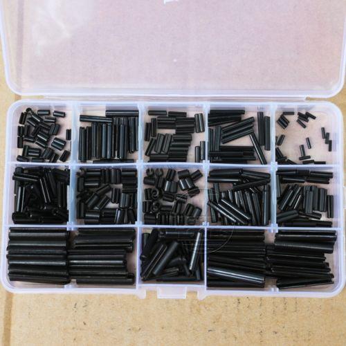 360Pcs Steel Split Spring Dowel Tension Roll Pin Metal Hardware Assortment Kit 14pcs m6 m6 25 6x25 304 stainless steel split cotter spring pin parallel dowel pins