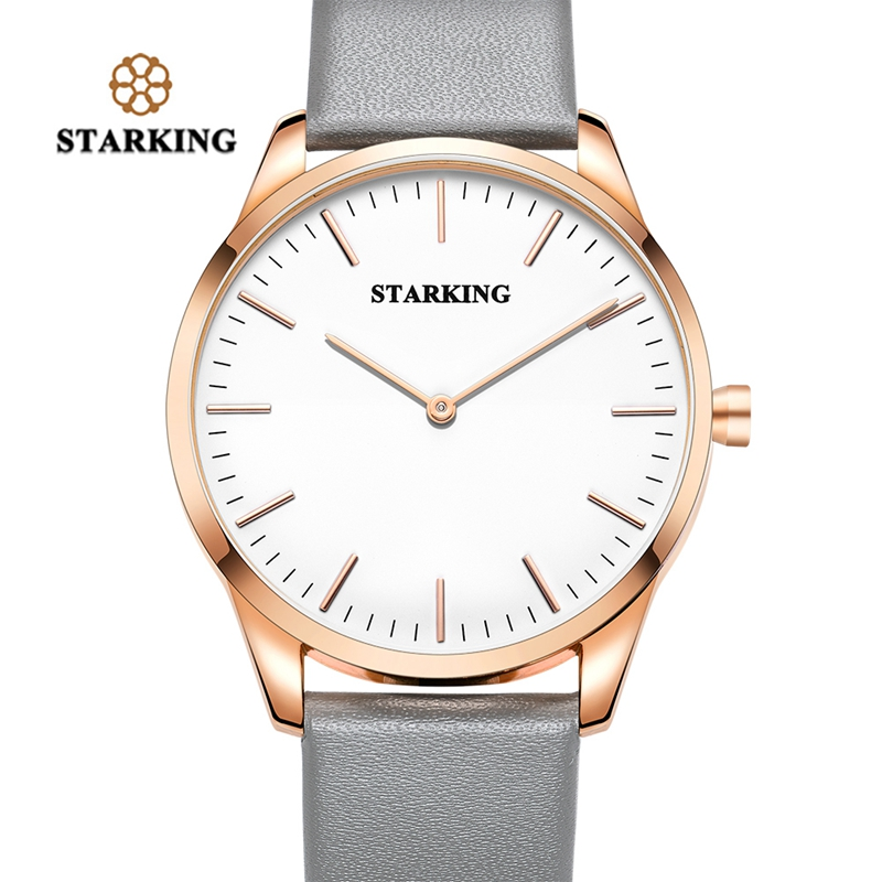 STARKING Quartz Men Watches Water Resistant Military Without Second Hand Genuine Leather Strap Father s Gift relogio masculino