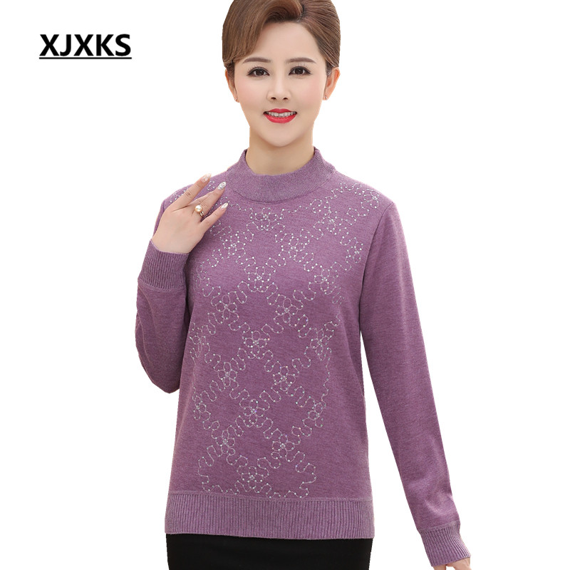 XJXKS Loose Plus size turtleneck sweater women winter 2018 new comfortable plus velvet warm pullover sweater women's sweater