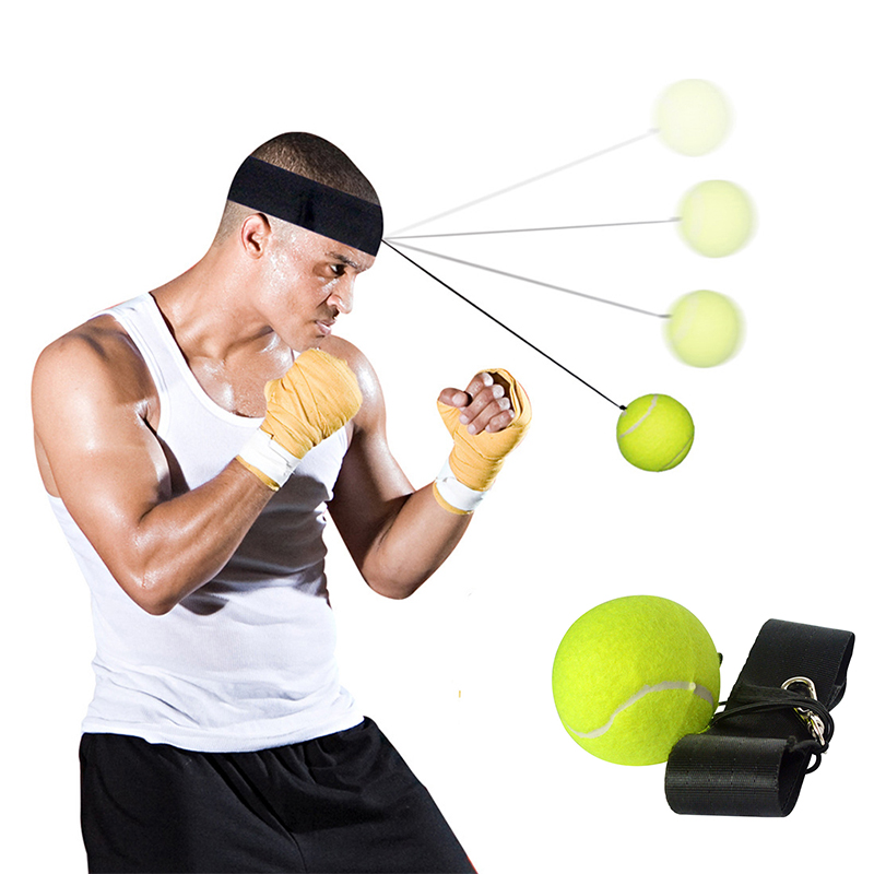 Boxing Ball String Headband Head Band Fighting Punching Speed Balls Punch Muay Thai Sport Exercise Fitness Equipment Cap Hat