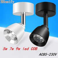 LED COBdownlight 5 w 7 W 9 W regulable techo Epistar lámpara de techo empotrada luz Downlight AC110V-220V 180 grados rotación