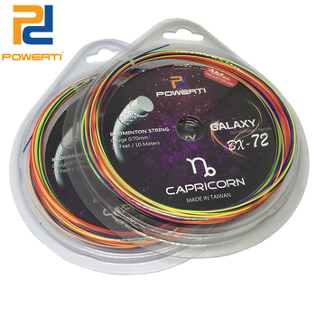 POWERTI 2pcs/lot 0.70mm Badminton Racket String Rainbow 10m Training Racquet String BG65 Badminton String
