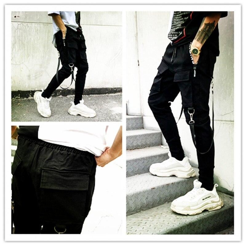 Calle Tendencia Hombres Nueve Pantalones Harem Hop Hip De Personalidad Negro Los XwxfwgYTqI