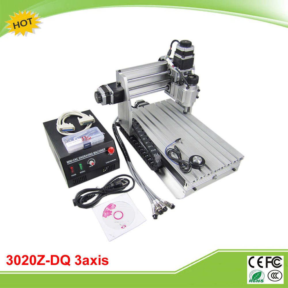 Mini CNC 3020Z-DQ CNC engrave machine with ball screw auto-checking tool